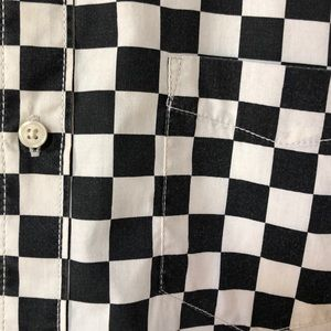 Vans Shirts - Vans checkerboard short sleeve button down shirt
